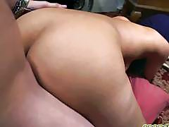 Arab gal rides on top of thick English cock